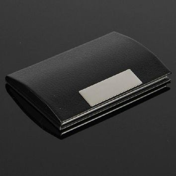 Xiniu Men leather Metal card holder Business Credit Card Name Id case for cards 50% off