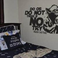Star Wars Inspired Do Or Do Not There Is No Try Yoda Wall Decal