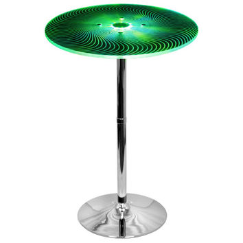 LumiSource BT-SPYRA Spyra Multi Phasing LED Bar Table