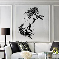 Wall Stickers Vinyl Decal Unicorn Fantasy Mythical Animal Wall Decor  ig007