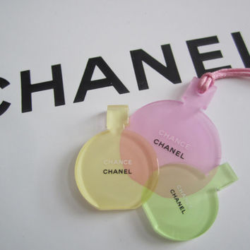 CHANEL CHANCE Perfume Bottle Plastic Ornament / Bag Charm / Keychain