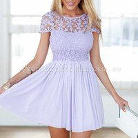 Splended Angel Dress (Light Lilac) | Xenia Boutique | Women's fashion for Less - Fast Shipping