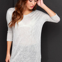 Fresh Take Grey Tunic Top