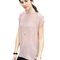 Banana Republic Womens Cap Sleeve Crepe Top