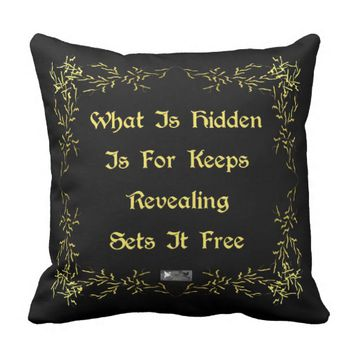 Revealing Quote by Kat Worth Throw Pillow