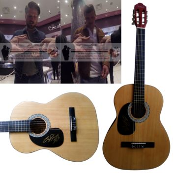 High Valley Band Autographed Full Size 39 Inch Country Music Acoustic Guitar, Proof