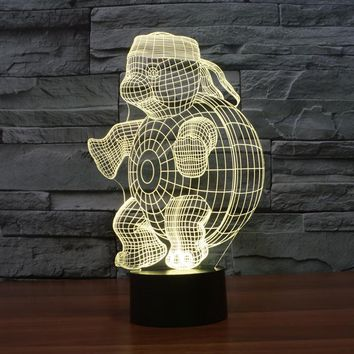 3D light Tortoise Figure Shape Table Desk Night Lamp