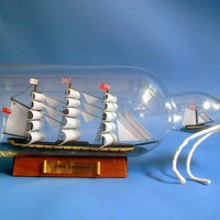 HMS Surprise Model Ship in a Glass Bottle 11""