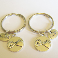 2 Sisters Pinky Promise Keychain Best Friends Sisters