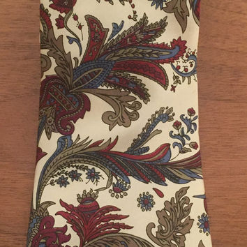 Christian Dior Monsieur Silk Tie, Neck Tie, Floral, Coat of Arms, Fabric Woven, All Silk, Made in Italy
