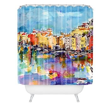 Ginette Fine Art Port Venere Italy 2 Shower Curtain