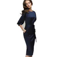 New Women Summer Casual Office Lady Business Dresses Formal Party Bodycon Slim Dress Fashion High Quality Clothing