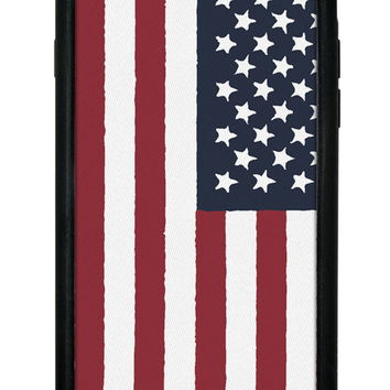 Wildflower American Flag iPhone 6 Case
