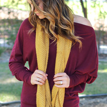 Chasing Leaves Infinity Scarf Mustard