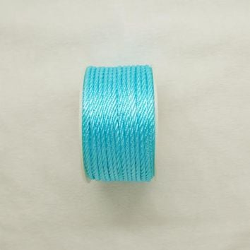Free shipping 10mtrs/Lot Vintage Skyblue 3mm Nylon Braide Persian Cord Macrame&Craft Yarn