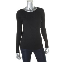 INC Womens Ribbed Knit Boatneck Pullover Sweater