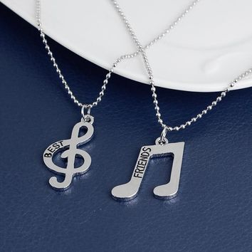 Music Notes  BFF Best Friends Friendship Forever Necklace Set Gift