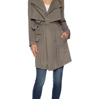 Bardot Trench Coat in Olive