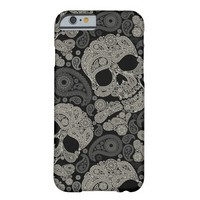 Vintage Sugar Skull Day Dead Pattern iPhone 6 Case
