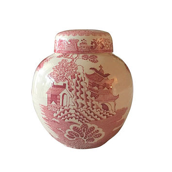 Twinings Tea Jar, Vintage Masons Ironstone China, Made in England, Country Living Style