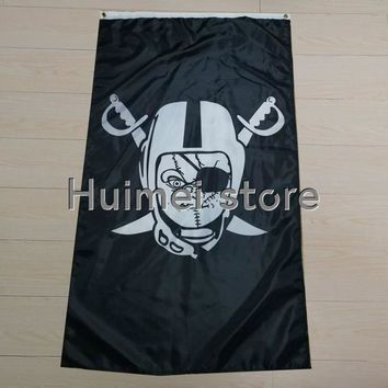 new design Flag polyester digital print one side cool OAKLAND raiders flag with art work flag