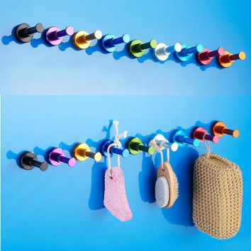DIY Towel Wall Hook Bathroom Kitchen Clothes Key Hat Bag Hanger Rack Holder Wall Mounted Worldwide Store