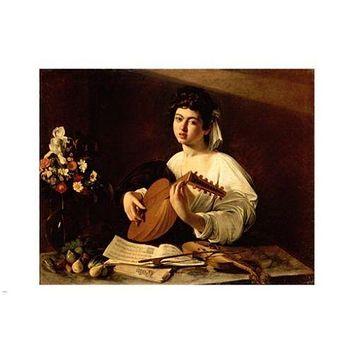 michelangelo merisi da CARAVAGGIO the  LUTE PLAYER 24X36 FINE ART POSTER new