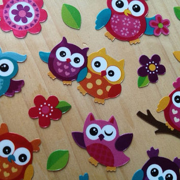29 pieces Glitter Sparkle Laser owl stickers Cute animal pet OOAK birthday gift card deco ipad computer laptop scrapbook note book Diary