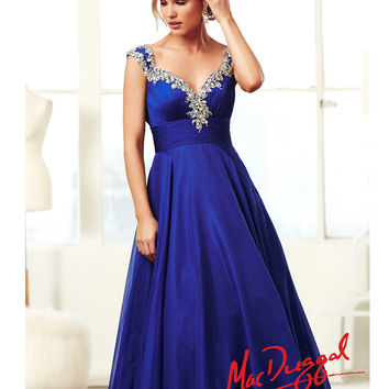 Mac Duggal 2014 Prom Dresses Royal Blue From Unique Vintage