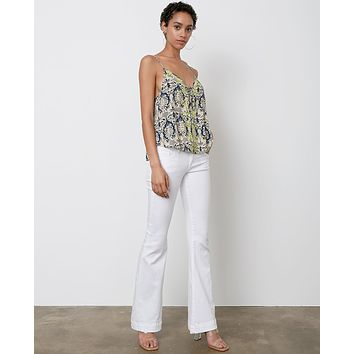 Ariana Wide Leg Jeans - White Denim