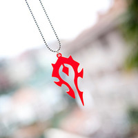 For The Horde necklace lasercut from acrylic