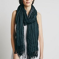Free People Womens Amalia Textured Oversized Scarf