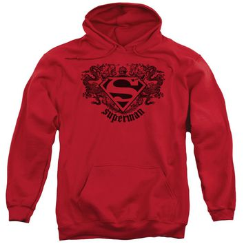 Superman - Superman Dragon Adult Pull Over Hoodie