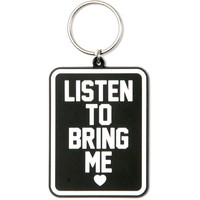 Bring Me The Horizon Listen To Rubber Key Chain Black
