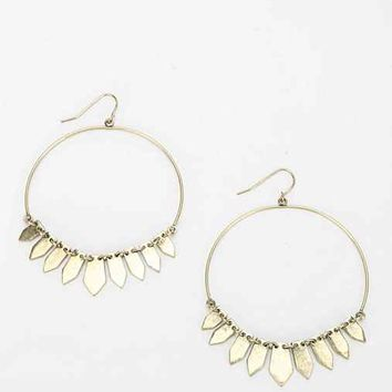 Metal Fringe Hoop Earring- Gold One