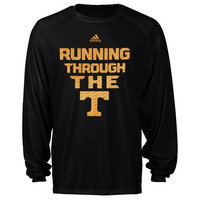 Tennessee Volunteers adidas Sideline Swagger Long Sleeve Performance T-Shirt - Black