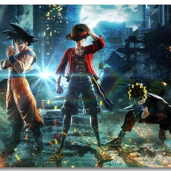 Naruto Sasauke ninja Custom Canvas Wall Mural Goku Luffy  Poster Uzumaki  Wallpaper Japanese Anime Stickers Kid Bedroom Decoration #0814# AT_81_8