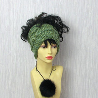 Green Dreadlocks accessory Mens Womens Tube Hat Dread Unisex Sock Wrap Headband Dread Band