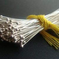 6% off Bulk 500 pcs, 26 gauge, 20mm, 0.75 inch, Bali Sterling Silver Handmade Ball End Headpins
