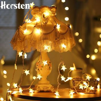 Horsten 33FT 10m 100LED Star Copper Wire String Lights LED String Fairy Light Christmas Lights 220V For Holiday Wedding Party