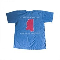 State Traditions Ole Miss Gameday Pocket Tee in Light Blue