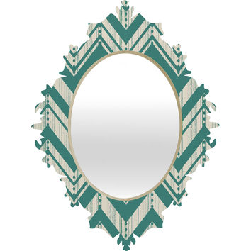 Heather Dutton Weathered Chevron Baroque Mirror