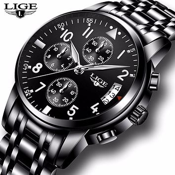 Men Full Steel Waterproof Luxury Watch
