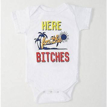 Here For The Bitches Baby Bodysuit - Spencer's