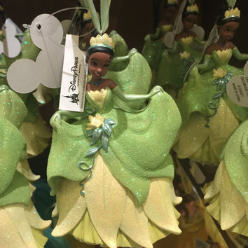 disney parks princess tiana glitter resin christmas ornament new with tag