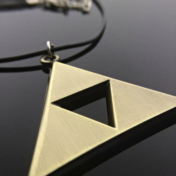 Triforce Necklace Zelda Jewelry Tri Force Legend of Zelda Gift