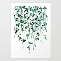 Ivy on the Wall Art Print by Color and Color