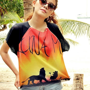 Hakuna Matata, The Lion King Women & Girl Shirt T-Shirt Chic Style Summer Fashion