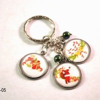 Santa Christmas Key Chain, Holiday Key Ring