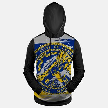 Nebraska State Flag Hoodie (Ships in 2 Weeks)